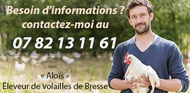 Contactez l'éleveur de volailles de Bresse
